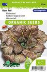 Biologische Bladmosterd zaden kopen, red giant - moestuinland