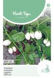 White Eggs Aubergine zaden kopen, Witte Aubergines   Moestuinland 12074