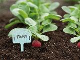 Steeketiketten, Plantlabels 10 stuks (met houder voor zaadzakjes)_