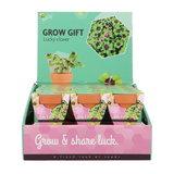 Klavertje-Vier Grow Gift weggevertje give-away | Moestuinland