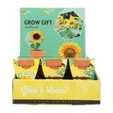 Zonnebloem Grow Gift weggevertje give-away | Moestuinland