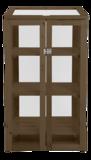 houten kweekkas met polycarbonaat, met planken