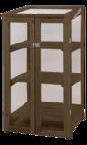 houten kweekkas met 3 lagen van hout met polycarbonaat moestuinland