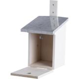 Witte nestkast voor de koolmees kopen, NK40W Wit vogelhuisje | Moestuinland