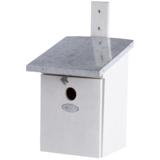 Grijze nestkast voor de koolmees kopen, NK40W Wit vogelhuisje | Moestuinland
