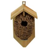 Nestbuidel zeegras, vogelhuisje Winterkoning | Moestuinland