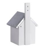 Pimpelnees vogelhuisje bouwen vogelhuis nestkast wit achterkant   Moestuinland