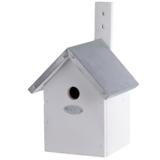 Pimpelnees vogelhuisje bouwen vogelhuis nestkast wit   Moestuinland