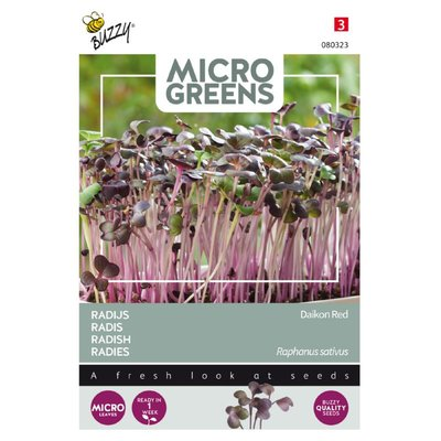 Radijs Zaden, Micro Greens (Rode Daikon)