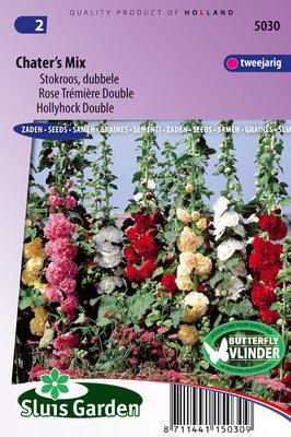 Stokroos Zaden, Dubbele Chater's Mix (Alcea rosea)