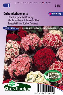 Duizendschoon zaden, Dianthus mix (dubbelbloemig)