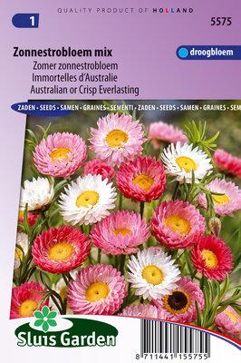 Zonnestrobloem Zaden, Zomer Mix (Helipterum roseum)