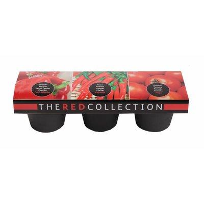 Rode groente collectie, 3-potten (Paprika, peper & tomaat)