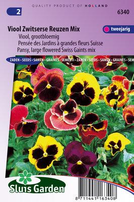 Viooltje zaden, Zwitserse Reuzen Mix