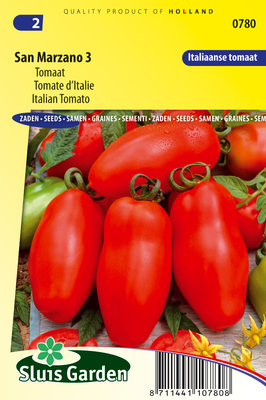 Tomaat Zaden, San Marzano 3 (Tomaten)