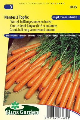Wortel Zaden, Nantes 2 Topfix (Wortels)