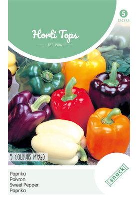 Paprika zaden, 5 kleurenmengsel