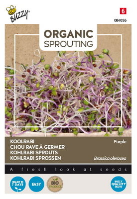 Koolrabi Zaden, Organic Sprouting | BIO