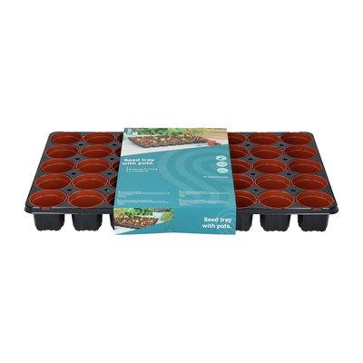 Kweekbak, Kweektray XL Incl. 40 plastic potjes SOGO
