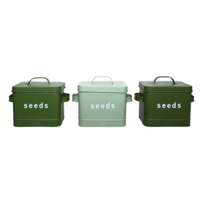 Bewaardoos zaden, Groentinten (Esschert Design)