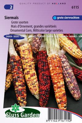 Siermaïs zaden, Grote gekleurde
