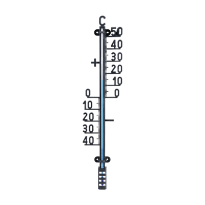 Thermometer, temperatuurmeter tuin zwart