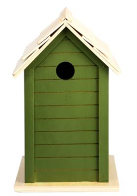 Vogelhuisje, 3 soorten groentinten (Nestkast)