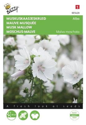 Kaasjeskruid zaden, Muskus Alba Wit (Malva moschata)