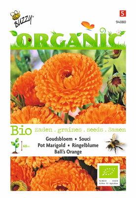 Goudsbloem zaden, Biologische Ball's Orange