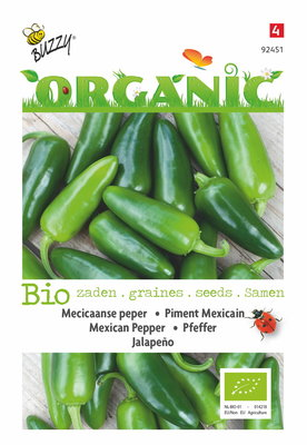 Peper zaden, Mexicaanse Jalapeno  | BIO