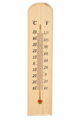 Thermometer, temperatuurmeter van hout