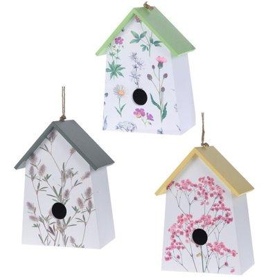 Vogelhuisje met bloemenprint