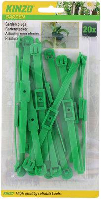 Plantenklemmen Groen, verstelbaar (20 stuks)