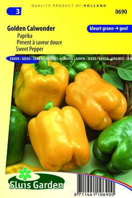 Paprika Zaden, California Wonder Yellow