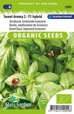 Basilicum Zaden, Sweet Aroma 2-F1 | BIO