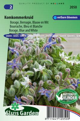 Komkommerkruid Zaden, Borage Blauw / Wit