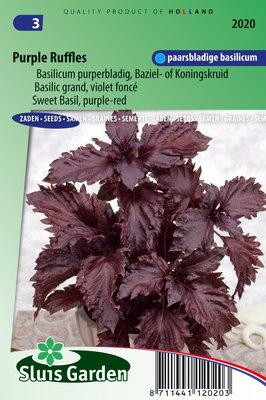 Basilicum Zaden, Purple Ruffles