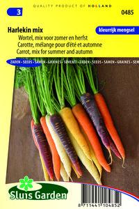 Wortel zaden kopen, Regenboogwortels Harlekin F1 mix wortels | Moestuinland