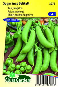 Peulen zaden kopen, Sugar Snap Delikett, peultjes zoete peul | Moestuinland