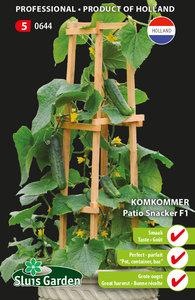 Komkommer zaden kopen, Patio Snacker F1 (PRO)   Moestuinland