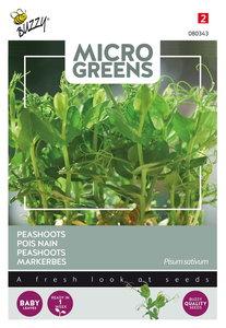 Peashoots zaden kopen, Peulen Micro Greens   Moestuinland