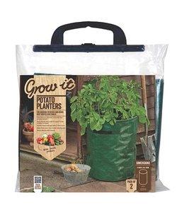 Groeizak kweekzak kopen aardappel, Grow-it Rond 40 centimeter (2 stuks)   Moestuinland
