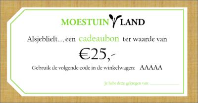 Cadeaubon Moestuinland.nl