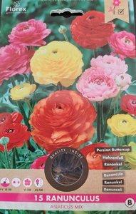 Ranonkel bloembollen kopen, Ranunculus asiaticus mix   moestuinland