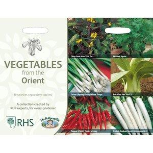 Oosterse groente zaden kopen, Collectie van 6 RHS   Moestuinland