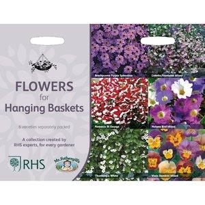 RHS collectie van 6, Bloemen zaden voor hanging baskets kopen | Moestuinland
