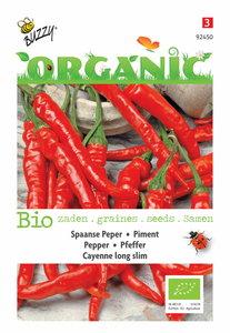 Spaanse Peper zaden kopen, Cayenne Long Slim Biologisch BIO | Moestuinland