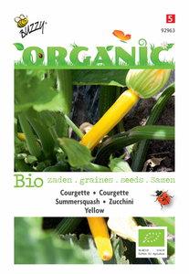 biologische gele courgette zaden kopen bij moestuinland
