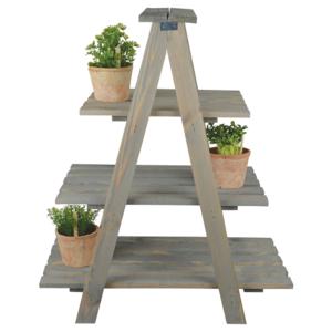 Plantenladder kopen, Esschert Design hout uitklapbaar | Moestuinland