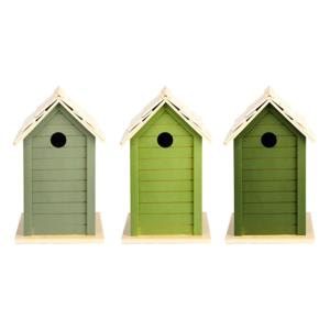 Nestkast vogelhuisje kopen, groentinten esschert EL071 | Moestuinland